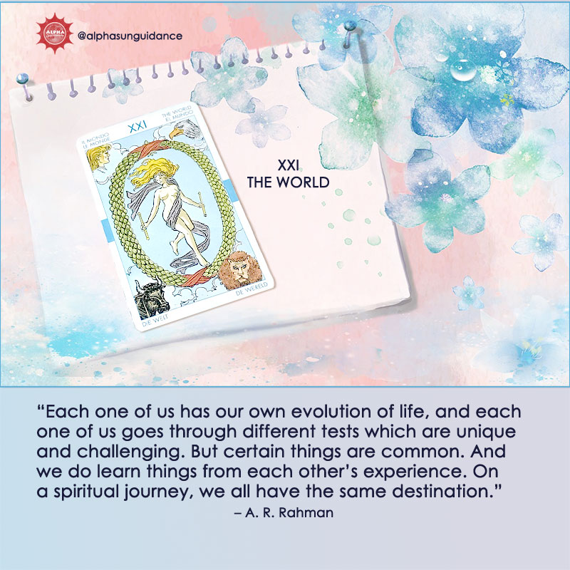 The World Tarot Card Life Comes Full Circle Affirmation